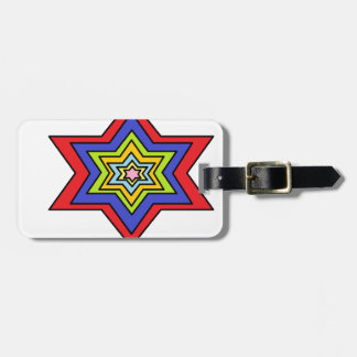 The Colorful star Luggage Tag