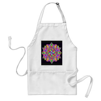The colorful Star of David. Adult Apron