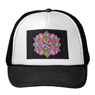 The colorful Star of David. Mesh Hat