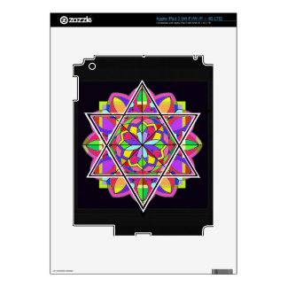 The colorful Star of David Decal For iPad 3
