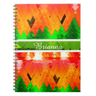 The colors of autumn pine trees customizable spiral notebook