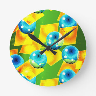 The colors of Brazil Round Clock