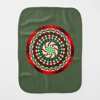 The Colors of Christmas Burp Cloth