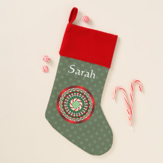 The Colors of Christmas Velvet Lined Stocking