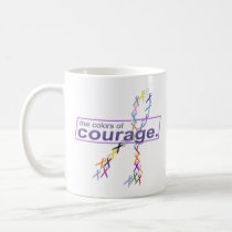 The Colors of Courage Cancer Awareness Ribbons Coffee Mug