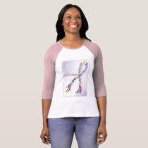 The Colors of Courage Cancer Awareness Ribbons T-Shirt