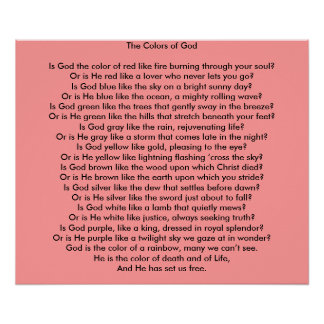 The Colors of God: A Poem Poster