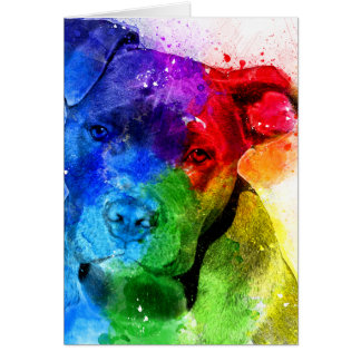 The colors of Love are a Pitbull Card