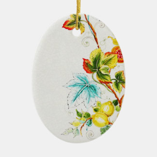 """the colors of nature"" oval ornaments"