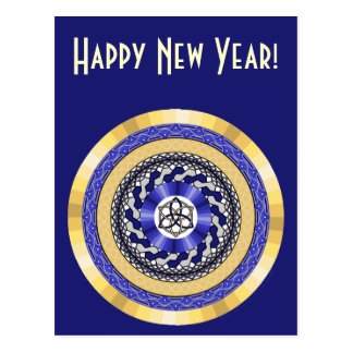 The Colors of New Years Postcard