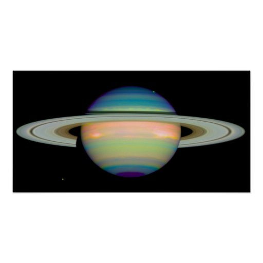The Colors of Saturn Poster