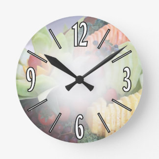 The Colors of Summer Round Clock