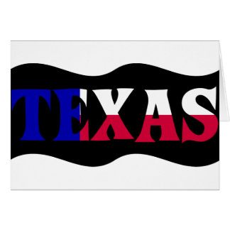 The Colors of Texas: Red, White, & Blue Card