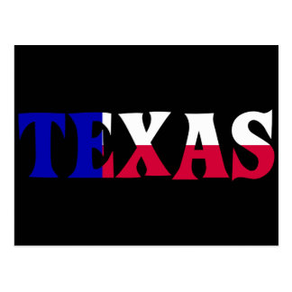 The Colors of Texas: Red, White, & Blue Postcard