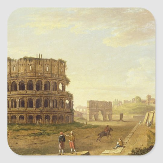 The Colosseum, 1776 (oil on canvas) Square Sticker