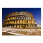 the Colosseum ampitheatre illuminated at night 2 Card