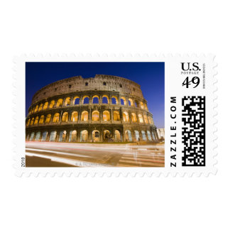 the Colosseum ampitheatre illuminated at night 2 Postage Stamp