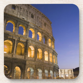 the Colosseum ampitheatre illuminated at night Beverage Coaster