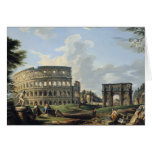 The Colosseum and the Arch of Constantine Greeting Card