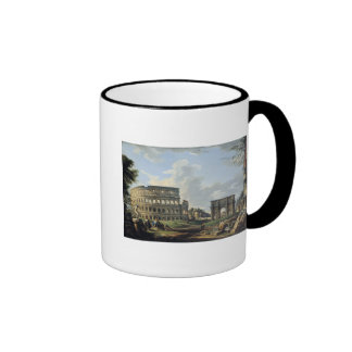 The Colosseum and the Arch of Constantine Ringer Coffee Mug