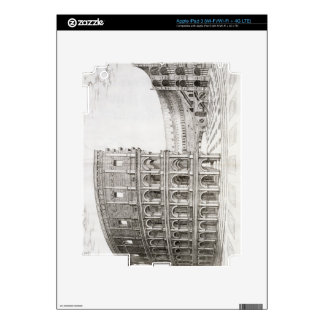 The Colosseum, built in AD 80 (engraving) iPad 3 Decal