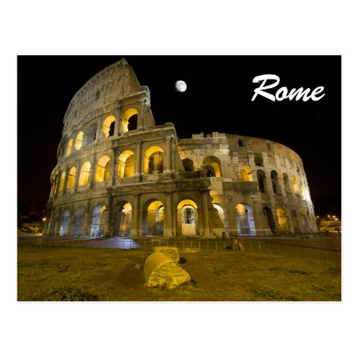 The Colosseum by Night Postcard