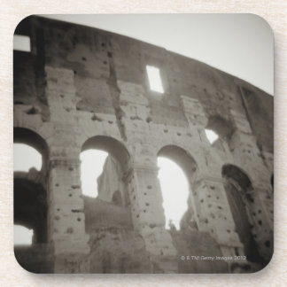 The colosseum in Rome, Italy Beverage Coaster