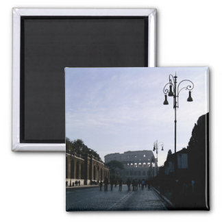 The Colosseum in Rome 2 Inch Square Magnet