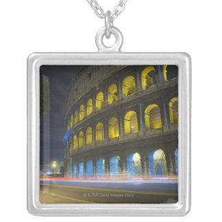 The Colosseum in Rome Square Pendant Necklace