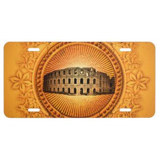 The Colosseum License Plate