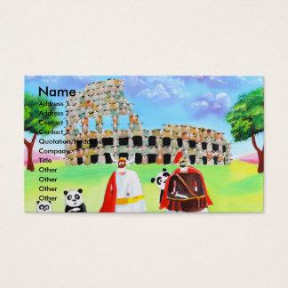 the colosseum made of sheep Gordon Bruce art Business Card