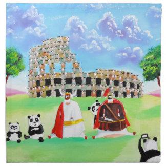 the colosseum made of sheep Gordon Bruce art Cloth Napkin