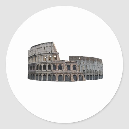 The Colosseum of Rome: 3D Model: Classic Round Sticker