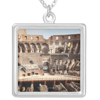 The Colosseum or Roman Coliseum, originally Silver Plated Necklace