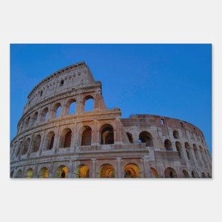 The Colosseum, originally the Flavian Amphitheater Lawn Sign