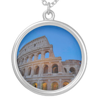 The Colosseum, originally the Flavian Amphitheater Silver Plated Necklace