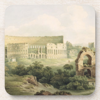 The Colosseum, Rome, 1802 (w/c over graphite on wo Beverage Coaster