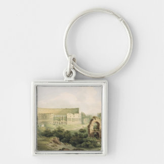 The Colosseum, Rome, 1802 (w/c over graphite on wo Silver-Colored Square Keychain