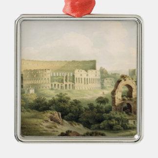 The Colosseum, Rome, 1802 (w/c over graphite on wo Metal Ornament