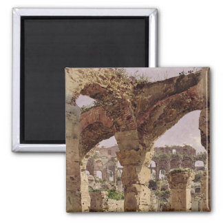 The Colosseum, Rome, 1835 2 Inch Square Magnet