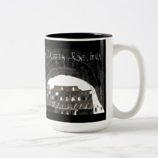 The Colosseum - Rome Italy Two-Tone Coffee Mug
