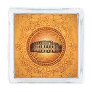The Colosseum Silver Finish Lapel Pin