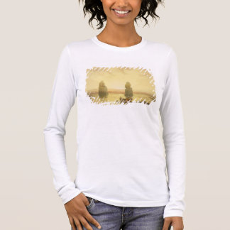 The Colossi of Memnon, at Thebes, during the Inund Long Sleeve T-Shirt