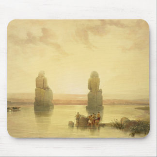 The Colossi of Memnon, at Thebes, during the Inund Mousepad