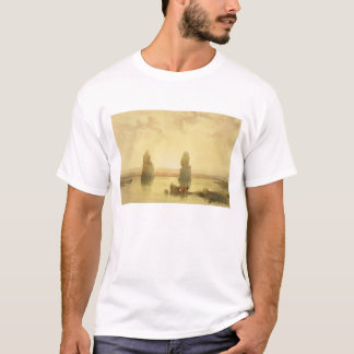 The Colossi of Memnon, at Thebes, during the Inund T-Shirt