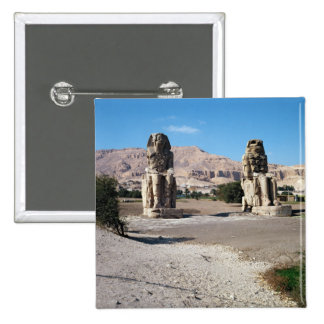 The Colossi of Memnon, statues of Amenhotep Button