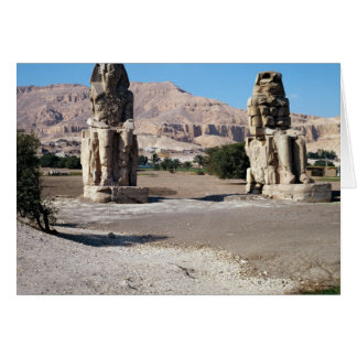 The Colossi of Memnon, statues of Amenhotep Greeting Card