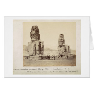 The Colossi of Memnon, statues of Amenhotep III, X Greeting Card