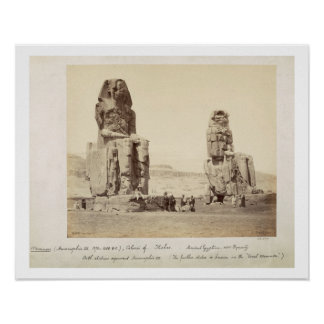 The Colossi of Memnon, statues of Amenhotep III, X Posters