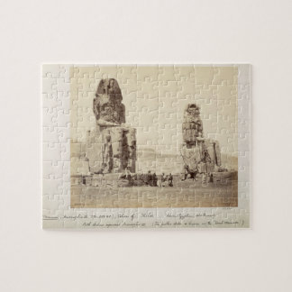 The Colossi of Memnon, statues of Amenhotep III, X Jigsaw Puzzle